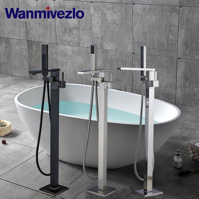 Küvet Bataryası Kat LED Banyo Tap ile Küvet Bataryası Banyo Duş Karıştırıcı dokunun Sıcak ve soğuk su Monteli