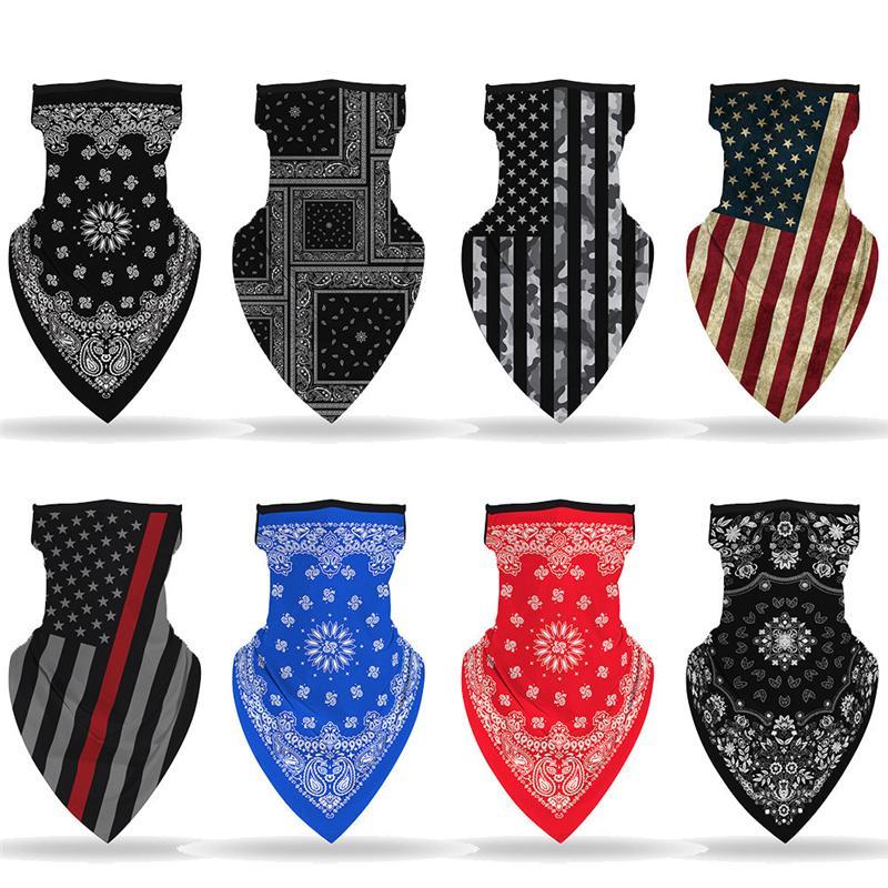 Новые 14 Различных стилей магия езда платок американского флаг шарфа Street Открытого вестерн маска висячей уха шарф T3I5903