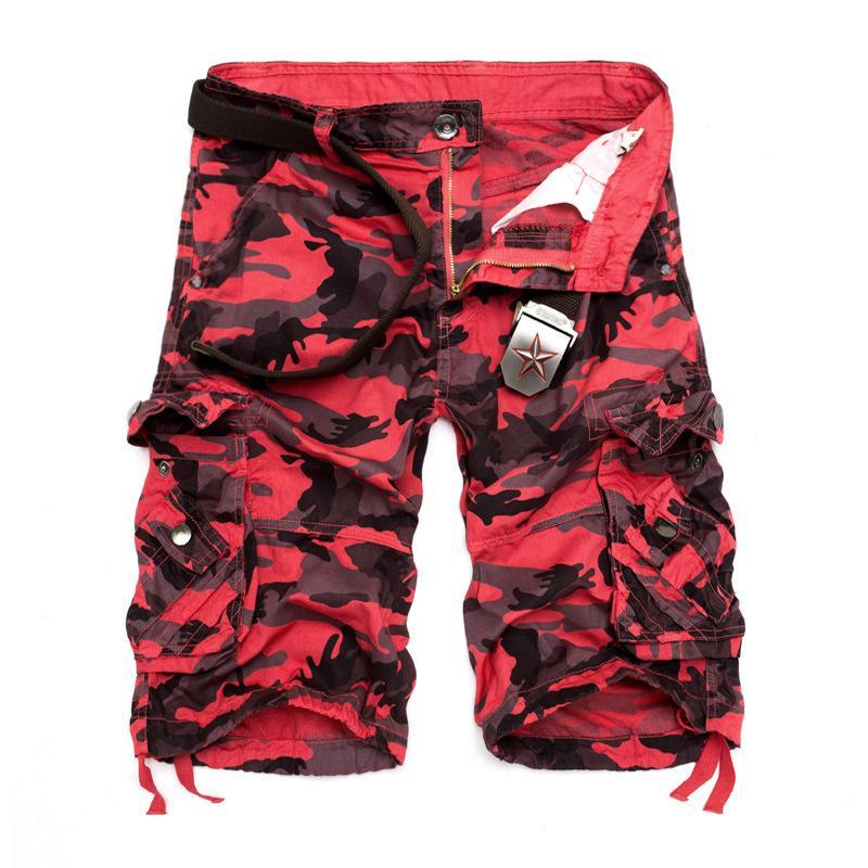 США Размер 2020 Новый камуфляж сыпучих шорты Мужчины прохладное лето Military Camo Короткие штаны Homme Cargo Shorts CX200714