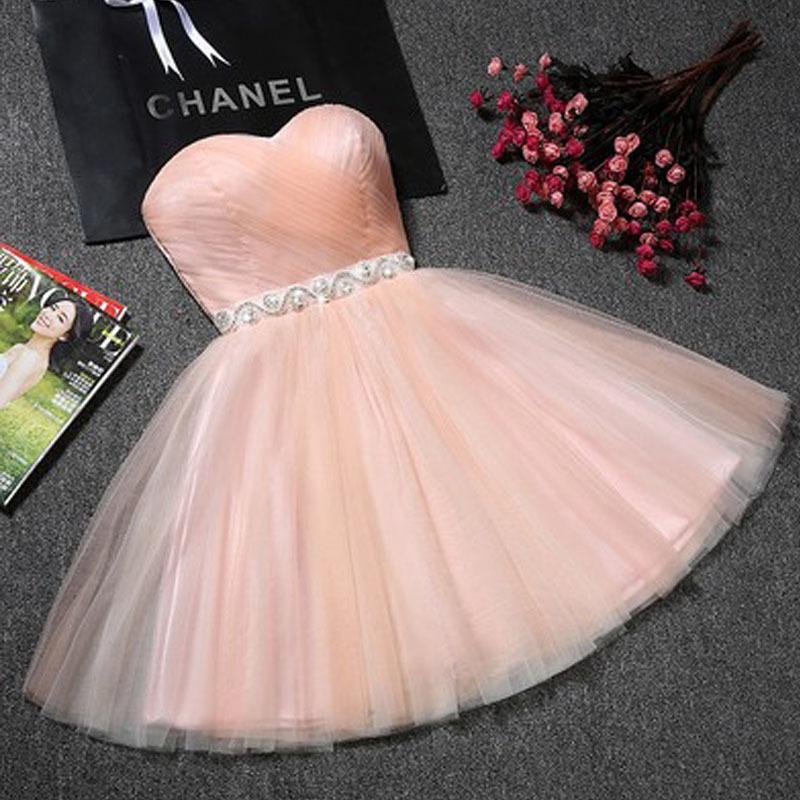 Güzellik Dantel Pembe Champange Dantel Abiye Kısa Tatlı Kalp Uzun Parti Balo Yansıtıcı Elbiseler 2020 Artı boyutu Parti Abiye T200718