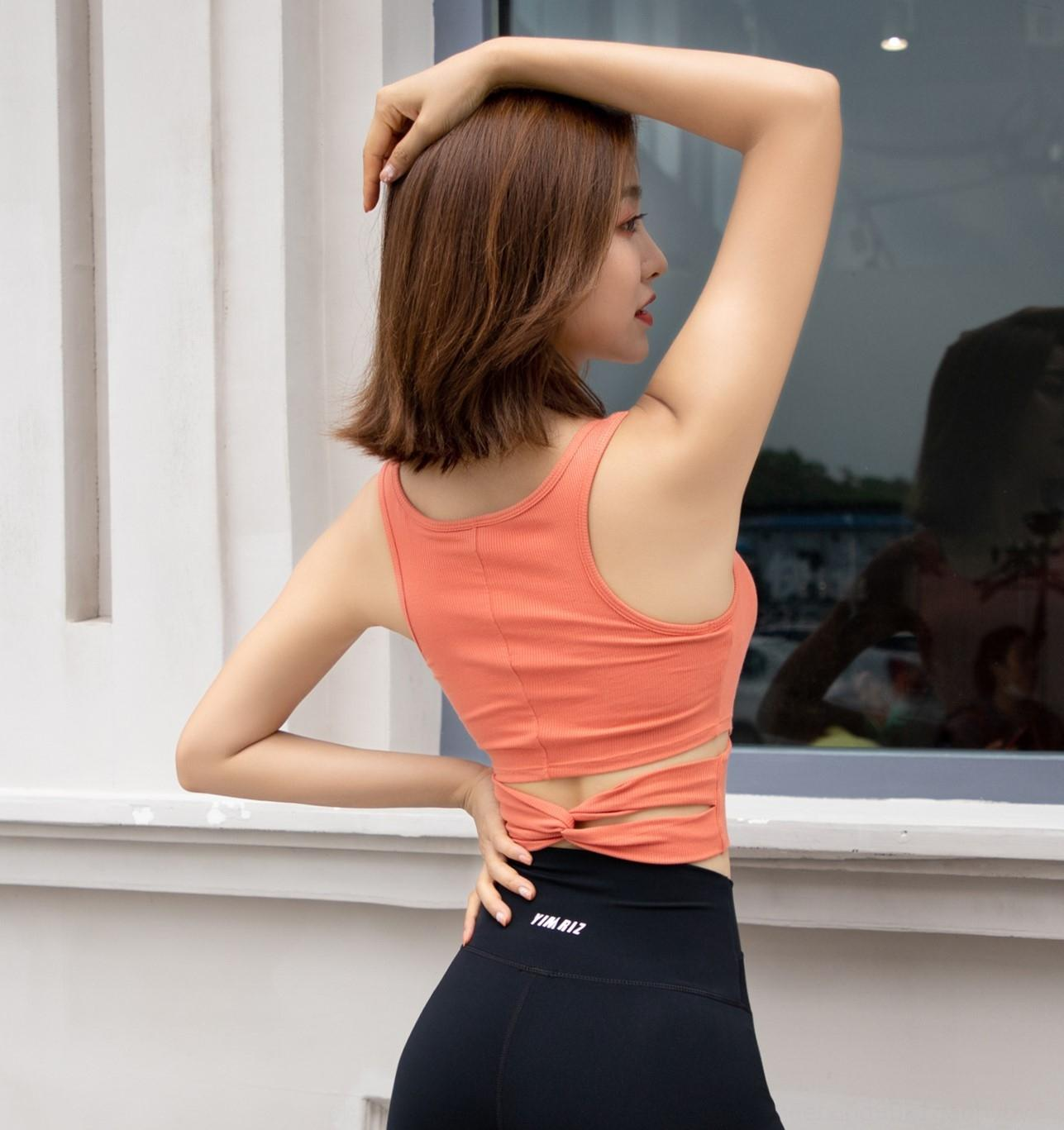2020 verão novos esportes à prova de choque que executam yoga Underwear Bra encontro-embelezar volta colete xVGLv aptidão bra roupas íntimas femininas