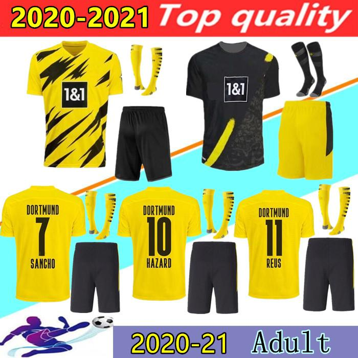 2020 New 2020 2021 Borussia Dortmund Home Away Soccer Jersey Kits 20 21 Reus Sancho Haaland Hazard Sancho Witsel Football Shirts Uniforms From Mili303 14 14 Dhgate Com