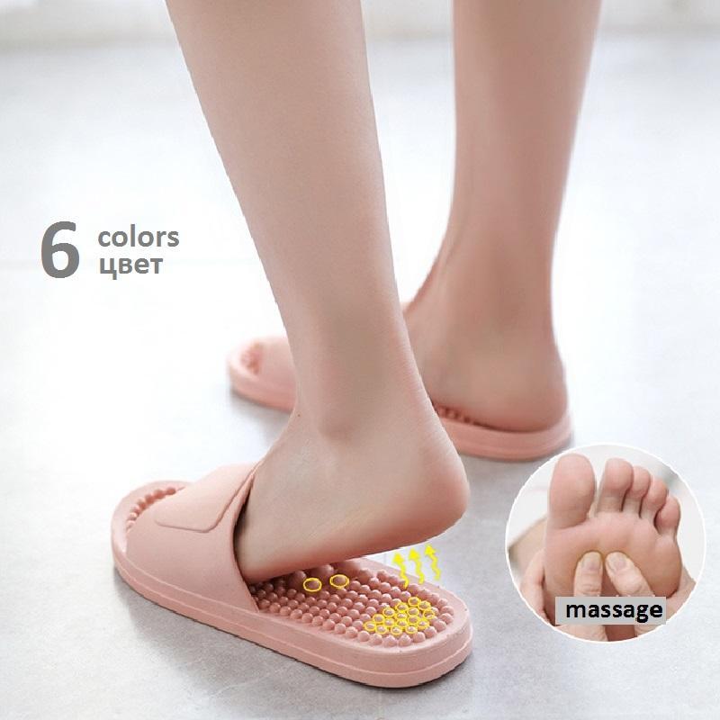 Pé massagem Chinelos Mulheres Indoor Sandálias Início Banho Verão chinelos para homens / mulheres macio Slipper 2020 T119