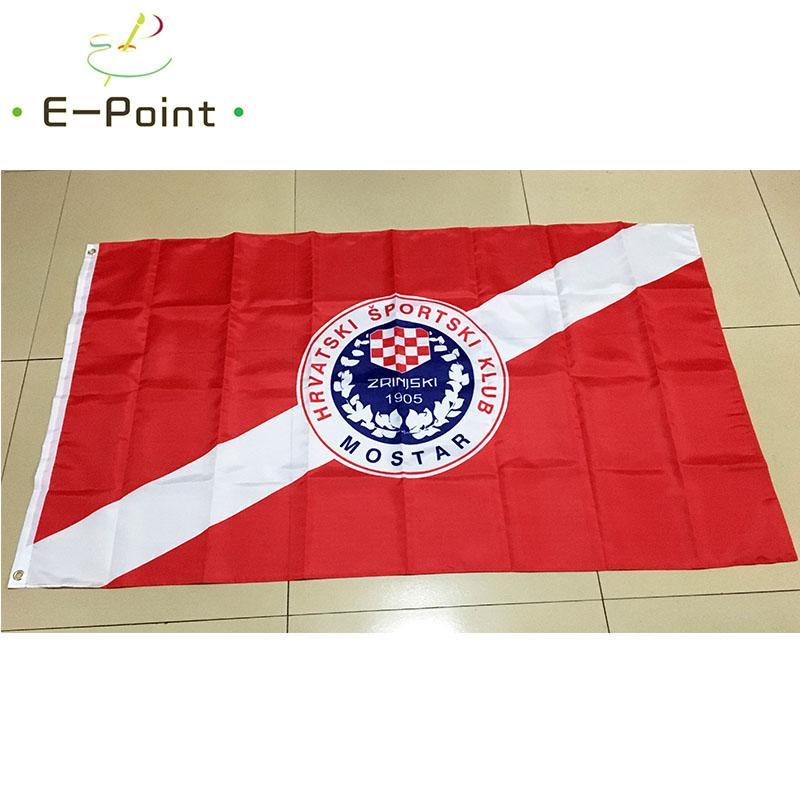 Bosnia and Herzegovina HSK Zrinjski Mostar Type B 3*5ft (90cm*150cm) Polyester flag Banner decoration flying home & garden flag Festive