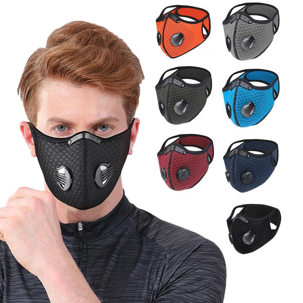 Máscaras de carvão ativado equitação máscara exterior Correndo Anti-embaçamento Homens e mulheres Quente Máscara de bicicleta à prova de poeira Sports Ciclismo Máscara Atacado