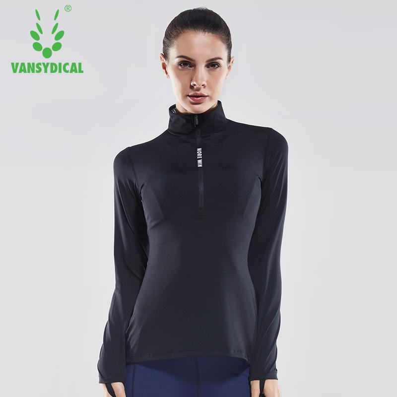 2020 Vansydical Frauen Fitness-Studio schnell trockene Kleidung Herbst und Winter läuft Sport Fitness-Kleidung Strumpfhosen Ärmel Yoga Jacke