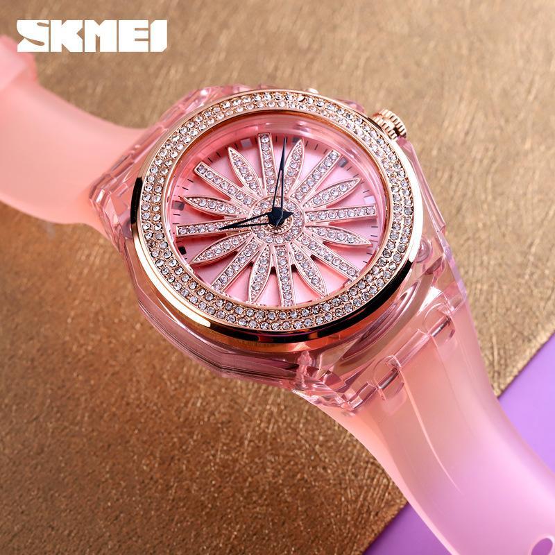 Tiktok Beliebte Internet-Berühmtheit Laufen Uhr-Mode-Trend Licht Kreative Quarz-Uhr-Zifferblatt
