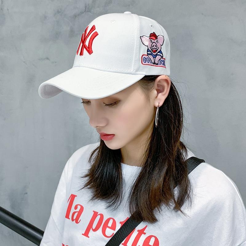 NY ins chapeau de chapeau casquette de baseball mode féminine de talents de la mode coréenne de baseball occasionnel mâle marque langue canard crème solaire chapeau de soleil