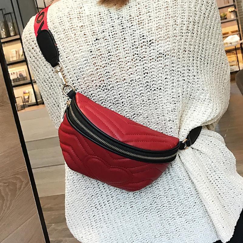 Donne Amore Crossbody Borsa a tracolla tasca sacchetto di modo selvaggio torace borse e borsette Sac Femme # 15