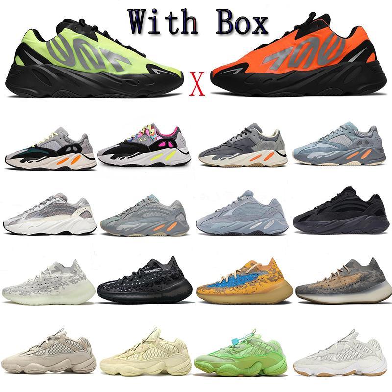 Kanye West 3M Yansıtıcı Koşu Ayakkabı 700 Leylak Geode MNVN 380 Mavi Yulaf Erkekler Kadınlar ARZARETH 500 Fayda Siyah Kemik Beyaz Sneakers 36-46