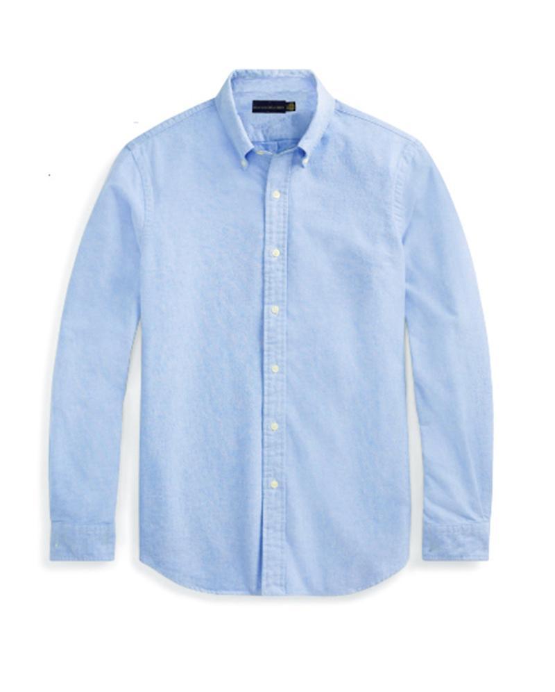 lauren ralph polo Ralph lauren  Top малого качество лошади вышивка блузки рубашки с длинным рукавом сплошного цвета Slim Fit Повседневной одежда Бизнеса Рубашка с длинными рукавами