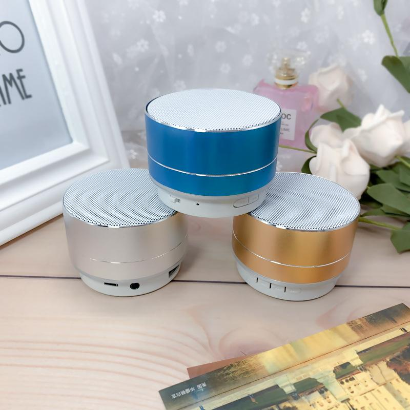 Mini Portable Speakers A10 Bluetooth Speaker Wireless Handsfree with FM TF Card Slot LED Audio Player for MP3 Tablet PC