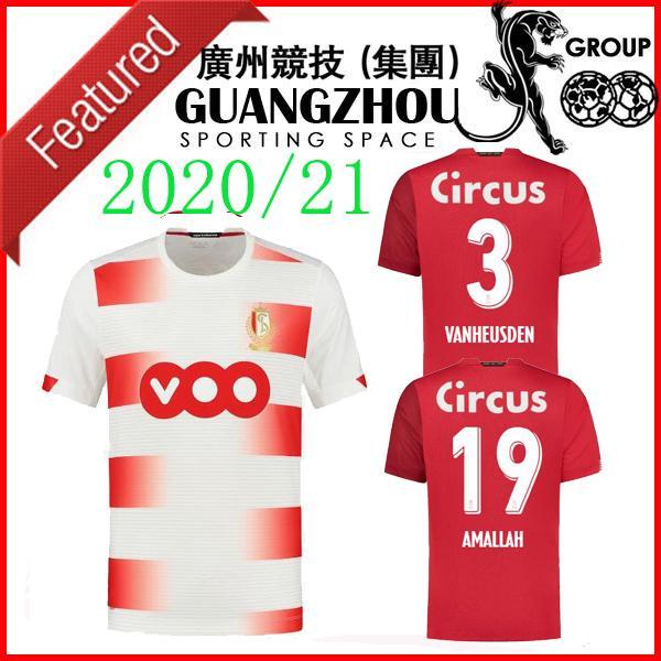 Standard Liège jerseys 20 21 fútbol del hogar de distancia de Lieja Vanheusden Laifis BASTIEN AMALLAH CIMIROT 2020 2021 JERSEY camisetas de fútbol