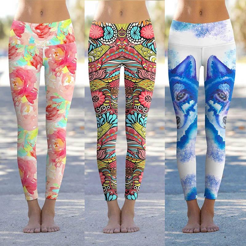Women 3D Print Leggings High Waist Sports Yoga Pants Ladies Pencil Pants Trousers Female Gym Legging Sexy Casual Skinny 050719