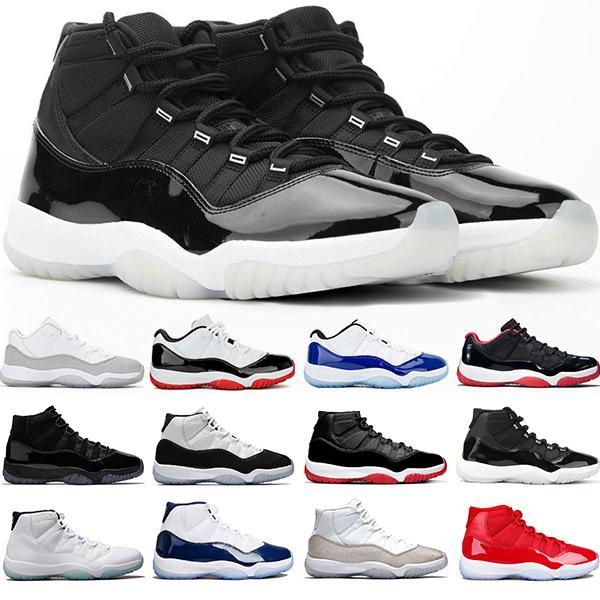 Chaussures de basket-ball Jumpman 11 11s 25 Bred anniversaire chapeau et robe Concord 45 UNC Metallic Silver Sneakers Hommes Femmes Vente en ligne