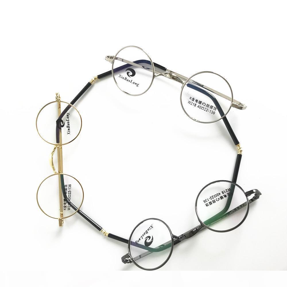 unisex ottico Vintage Piccolo 40 millimetri rotonda monocolo della Full Metal Rim Glasses
