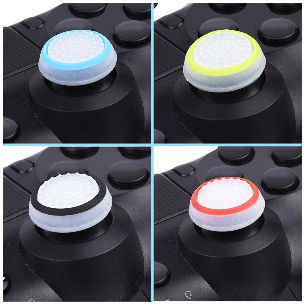 Dual Color Silicone Joystick Cap Thumb Grip Stick Grips Caps Case For PS4 PS3 Xbox one 360 WiiU Controller DHL FREE SHIPPING