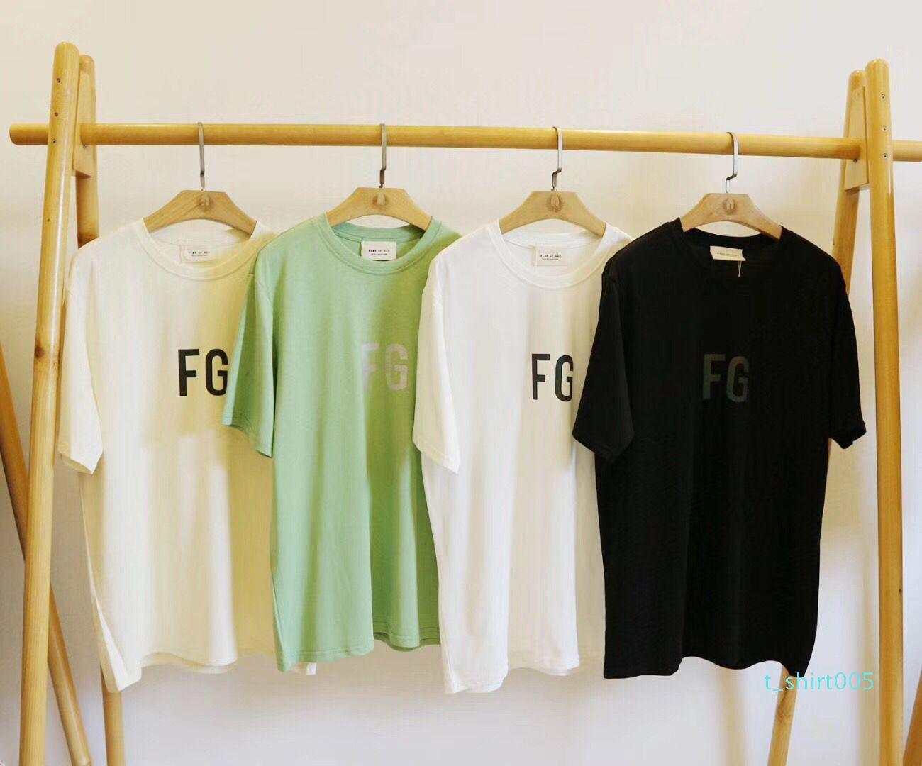 Allah Tişört Essentials 3M Yansıtıcı Hip Hop Streetwear Yaz Tee Tasarımcı Gömlek Erkekler Gömlek Kanye West Unisex SİS Korku Çiftler z844S Tops