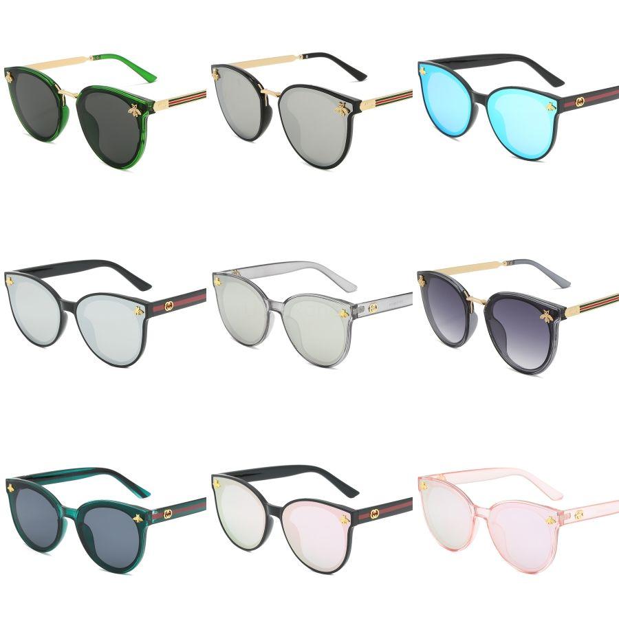 5Pcs Qualitäts-Art- und Cassdall schwarze Rahmen Männer Sonnenbrillen Outdoor Frauen Sun-Glas mit Brown # 458