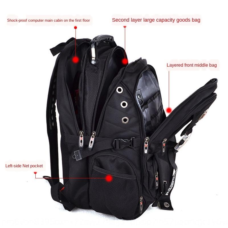 Swiss Army knife casual Luggage bag Oxford cloth Backpack men's Oxford cloth large capacity luggage bag 17.3-inch computer backpack