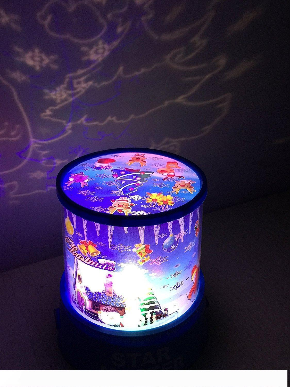 Incroyable étoile principale LED Sky Cosmos Space Projector lit enfant Night Light Lamp Mood cadeau vacances de Noël