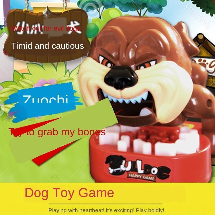 Trick cuidado con los huesos que roban perros malos perros que muerden la interacción de escritorio juguete juguete entre padres e hijos juguetes del perro dientes recogiendo los dedos juego 5TCAa