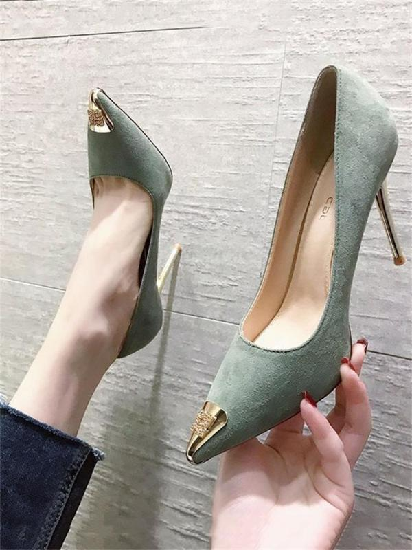 Spring and autumn new style thin and versatile sexy french high heels