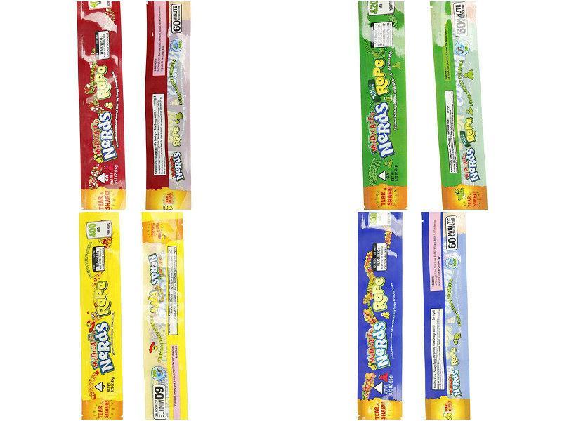 2016 2020 Vazio MEDICADO lerdos Corda sacos de embalagem 9 Styles opção de pacote Nerdsrope Saco dos doces gomoso Folha de poliéster Alimentação Cheiro Prova De OnC