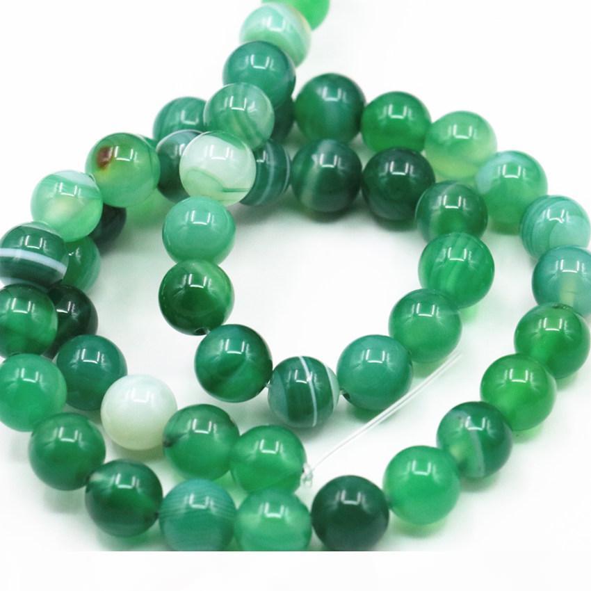 Круглые Природный камень оникс по венам Агатам свободных шарики 6-10 12mm Выберите размер для изготовления ювелирных изделий Зеленый сердолик ВЫВОДОВ 15inch A348