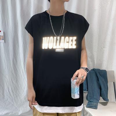 Designer Hommes Gilet T-shirt de la mode d'été Hip Hop T-shirts manches 2020 New Arrival Sport Gilet Tees Respirant T-shirt décontracté Taille M-2XL
