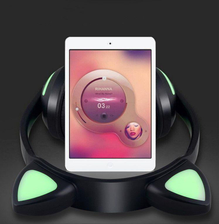 2019 Conception mignonne de chat oreille sans fil Bluetooth mains libres stéréo Beast casque DJ Livraison gratuite écouteurs