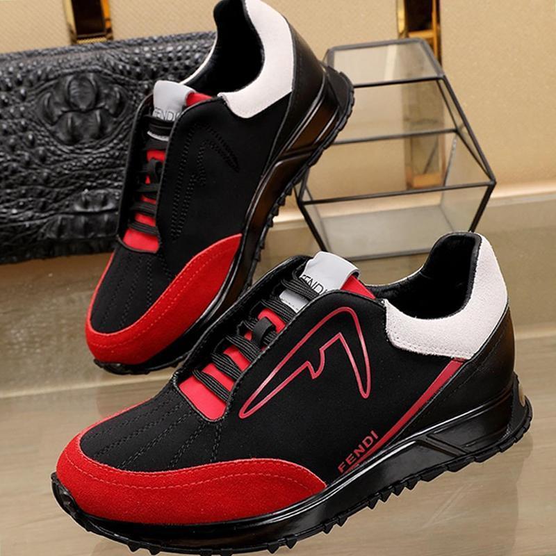 Luxo Shoes Sneakers Flats Moda Sneakers Masculino calçado Platform Zapatos De Hombre Com Box Mens sapatos Black Scuba Low -Tops Sneakers