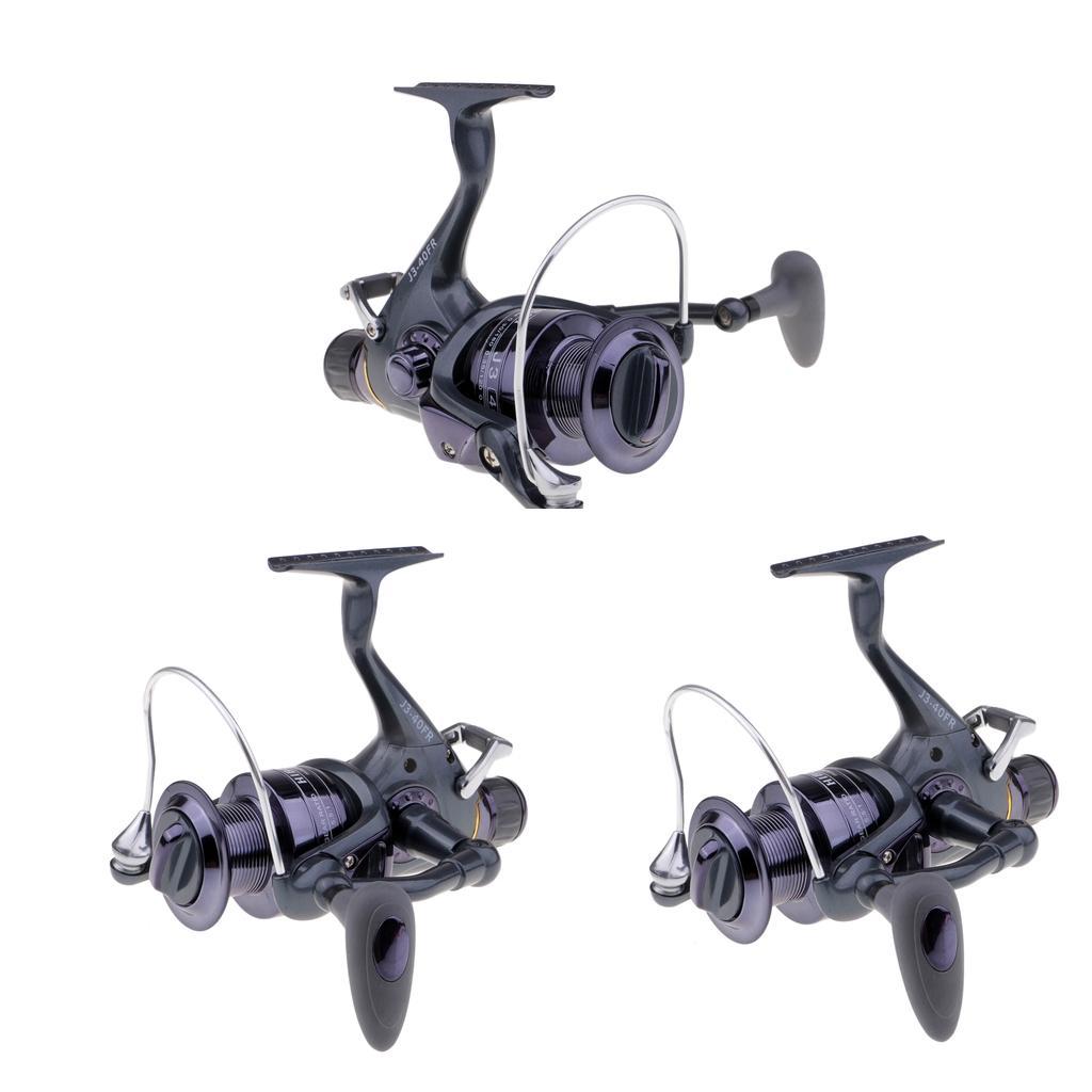 3 Piezas 40FR Baitfeeder la pesca de giro del carrete de la fricción de frenos delantero trasero Doble