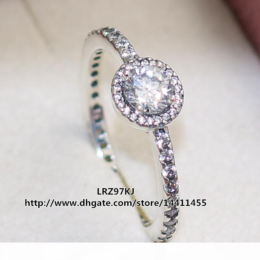 De haute qualité 100% Argent 925 Bague Classique Elegance avec cz Pandora style européen Charm Bijoux
