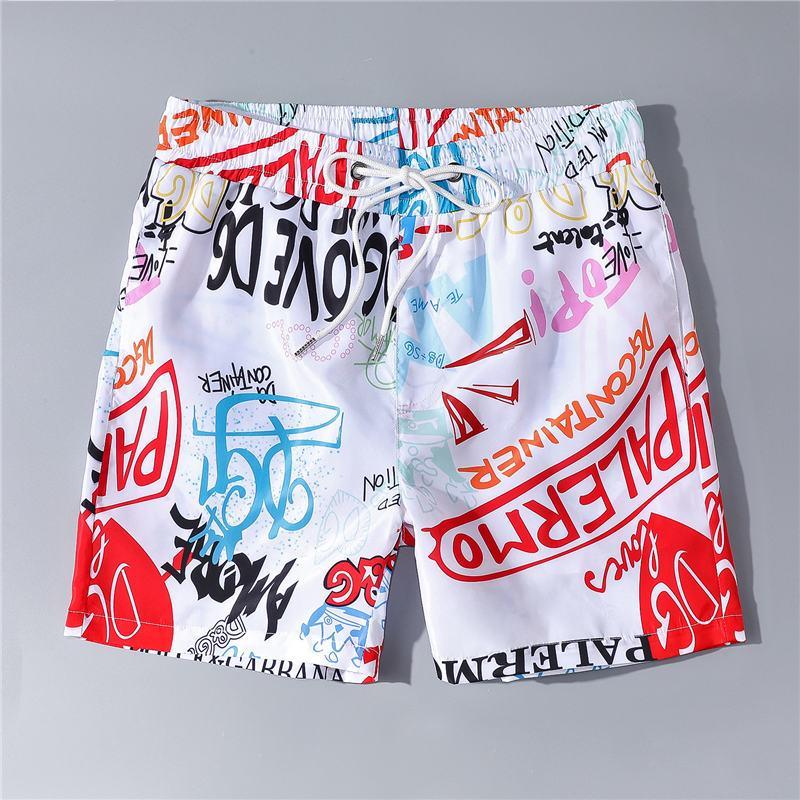 Yaz Moda Erkek Şort Mektupları Renkli Trouse Koşucular Şort Pantolon Anti-Water Beach Şort Boş Yüksek Kalite