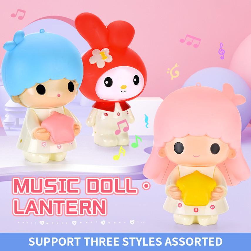 Sevimli bebek yatağı lamba ışık Yaratıcı Karikatür başucu lambası Çocuk hediye gece 01 müzik çalabilir