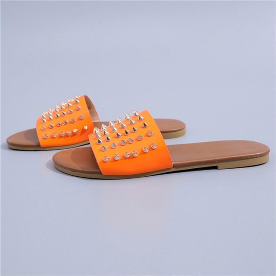 Ig-Qualität Sommer-elegante Boemia Art-Kleid-Sandelholz-Blatt-Korn-Rinestone runde Zehe Beac Low Aal Deners Flip Flops Slipper # 170 # 876