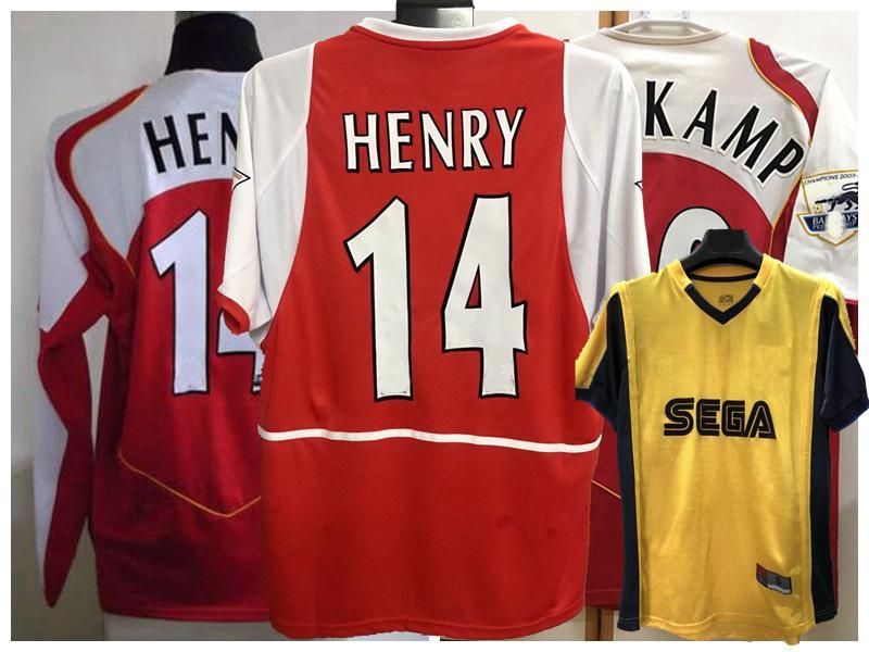 1999 2000 2002 2003 2004 2005 HENRY Retro soccer jersey Pires FABREGAS Lehmann Vieira Ljungberg BERGKAMP Cole Keown Reyes football shirt