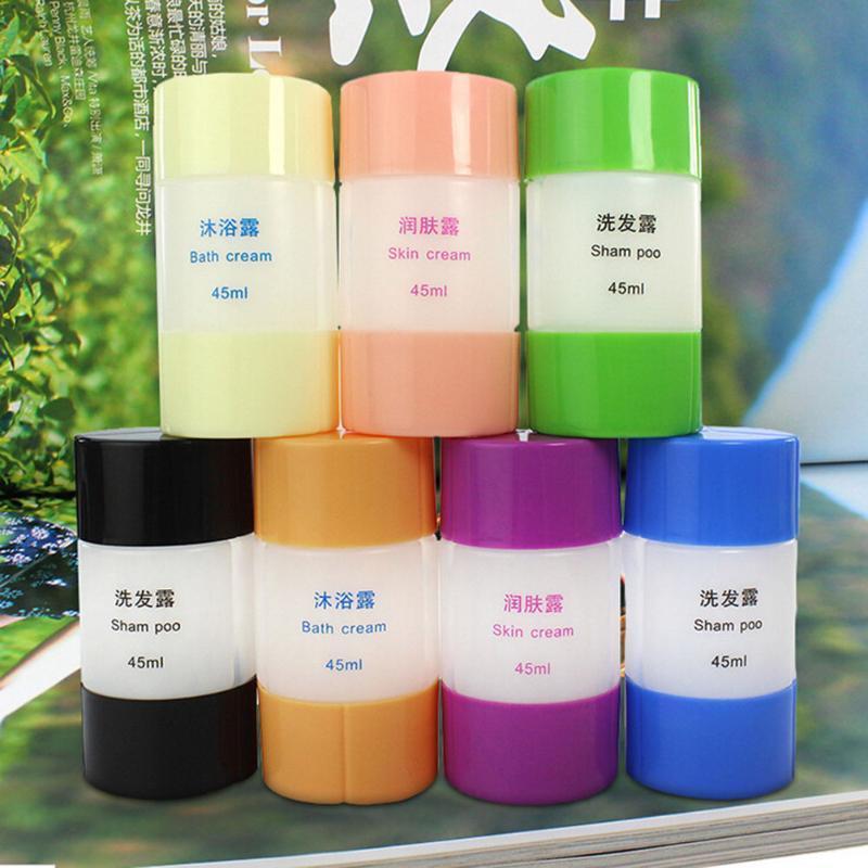 1Pcs portátil de plástico vazio de pele viagem Armazenamento Shampoo Creme Garrafas Container Sets 6 cores Atacado