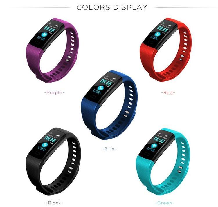 Y5 Smart Bracelet Wristband Fitness Tracker Color Screen Heart Rate Sleep Pedometer Sport Waterproof Activity Tracker for smartphone Samsung