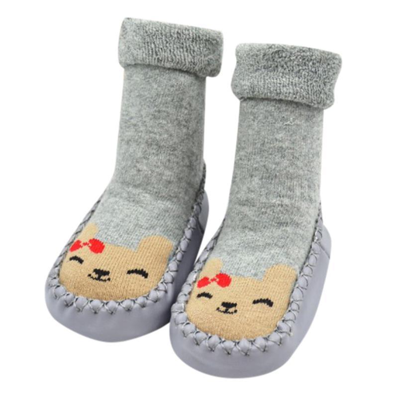 Newborn Baby boy girl socks Crib Shoes infant cute Cartoon Baby unisex slip-on Soft Soled Crib First Walker booties A40