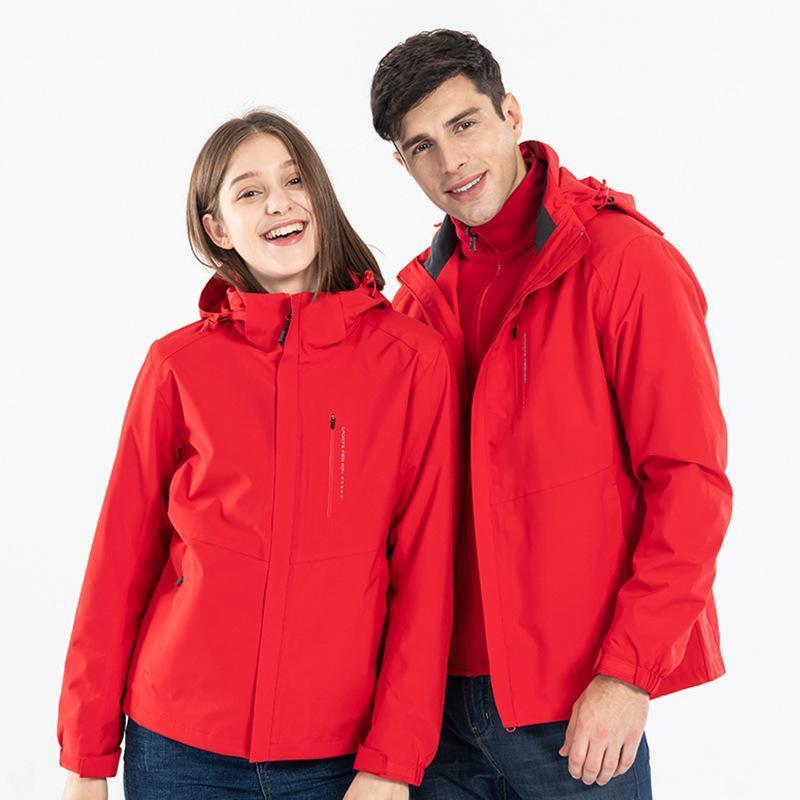 Il nuovo modo di spinta principale Nuova Tre-in-one giacca impermeabile due pezzi antivento esterna degli uomini di rimovibile Liner Made In China