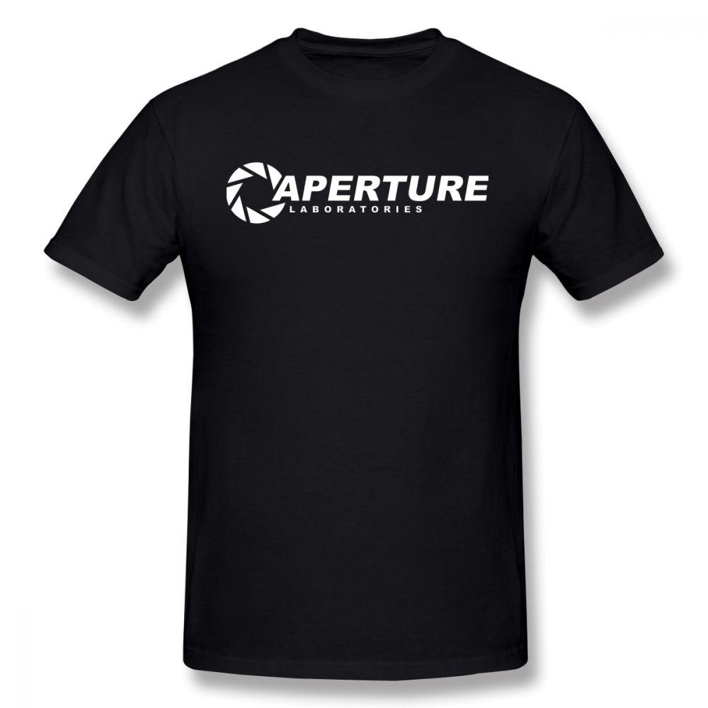 Portal camiseta de apertura Laboratorios Camiseta Hombre Camiseta divertida de impresión grande de manga corta 100% algodón camiseta Beach