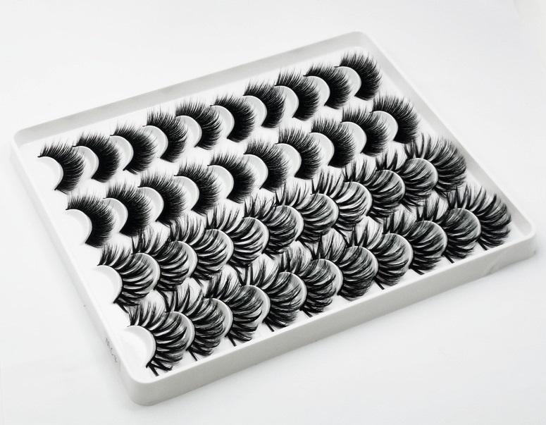 20 زوجا 3D المنك الرموش جلدة الكتاب الطبيعية الرموش الصناعية وهمية جلدة طويل ماكياج رمش تمديد المنك الرموش على الجمال