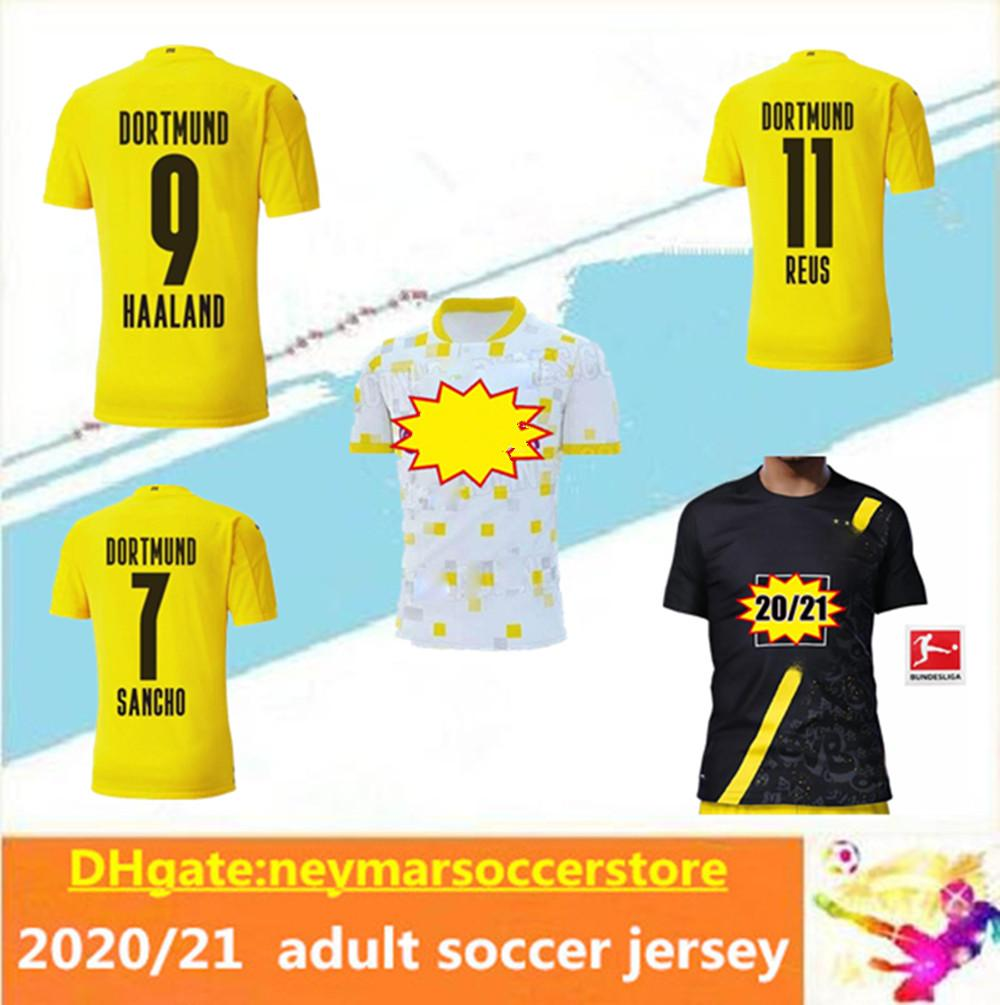 2020 20 21 Haaland Borussia Hazard Dortmund Soccer Jersey 2020 2021 Men Football Shirt Reus Hummels Sancho Brandt Third Maillot De Foot From Neymarsoccerstore 12 08 Dhgate Com
