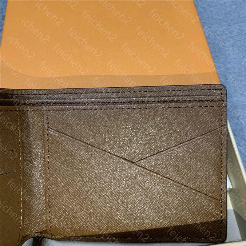 Bolso de estilo de bolso para hombre Clásico con billetera Moda Moda Caja de tela escocesa Pequeño Cuero Especial Lona Mens Mens Bolsa de polvo Múltiple Cheque xukh
