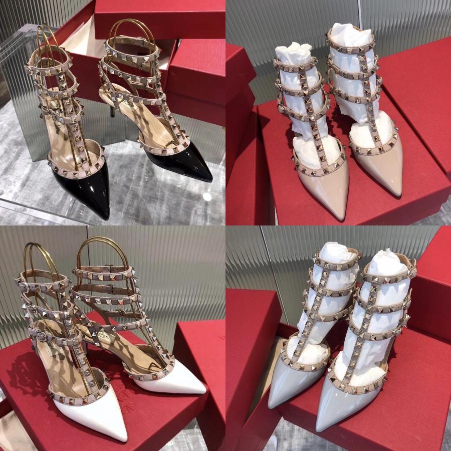 2020 Frauen 8Cm 11cm High Heels Fetisch Sandalen Female Gladiator Günstige Strap-Schuh-Dame Nude Valentine Red Plattform Prom Pumpen Y200323 # 341