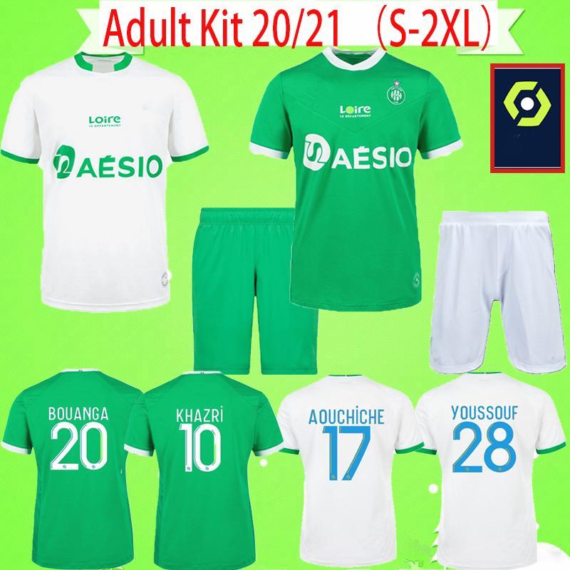 Комплект для взрослых Saint-Étienne 2020 2021 AS Saints-Etienne Футболки Мужской костюм KHAZRI Maillot 20 21 ASSE ST Etienne KHAZRI комплекты Футболки AHOLOU