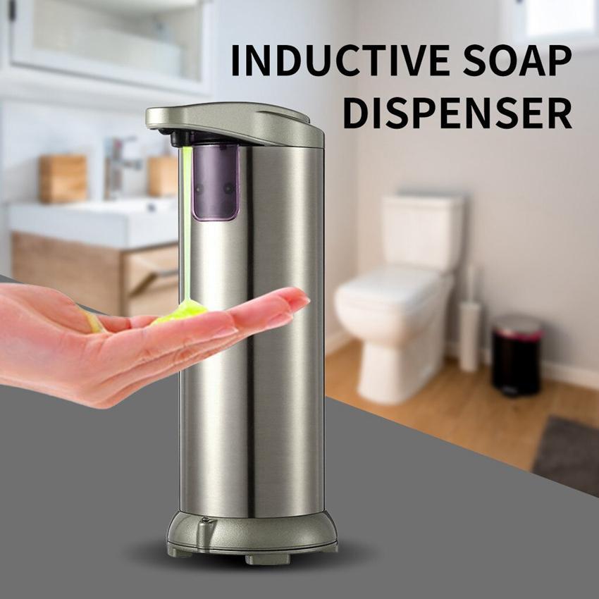 Capteur liquide 280ml automatique Distributeur de savon Touchless en acier inoxydable Distributeur de savon pour la cuisine Salle de bains ZZA2311 50Pcs