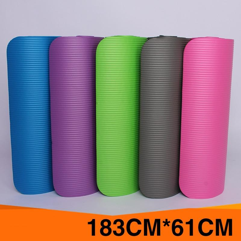 ExtraThick Mulheres High Density Anti-rasgo Exercício Yoga Mats para Pilates NBR antiderrapante Nenhum plástico Prove Gestantes Mat Yoga